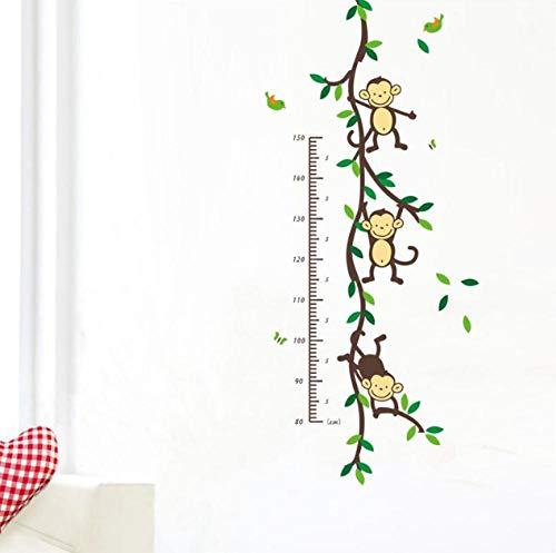 Muursticker (DIY) Cartoon Animal Tree Home Muursticker Kind Hoogte Meting Kid Room Groei Kaart Sticker