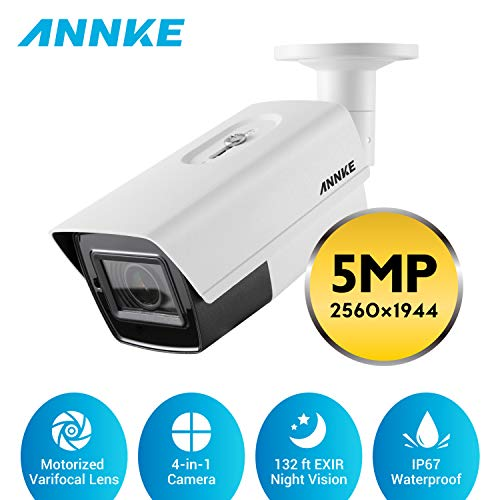 ANNKE 5MP Super HD Camera 5X Optische Zoom & Gemotoriseerde Varifocale Lens (2.7-13,5 mm) 4-in-1 Surveillance Home Security, 132 ft EXIR Night Vision, IP67 Waterdicht Outdoor/Indoor
