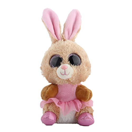 Ty Beanie Boos Knuffel Big Eye Cute Doll Brown Rabbit 15cm
