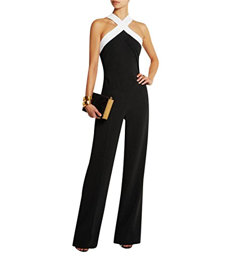 Mujer Fiesta Monos Vestir Sin Mangas Color Bloque Ladies Jumpsuits para Mujer Going out