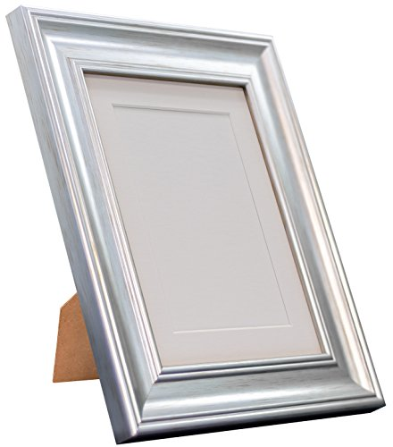Frames By Post Scandi Vintage fotolijst Witte passe-partout 20 x 20 Image Size 16 x 16 Inches zilver
