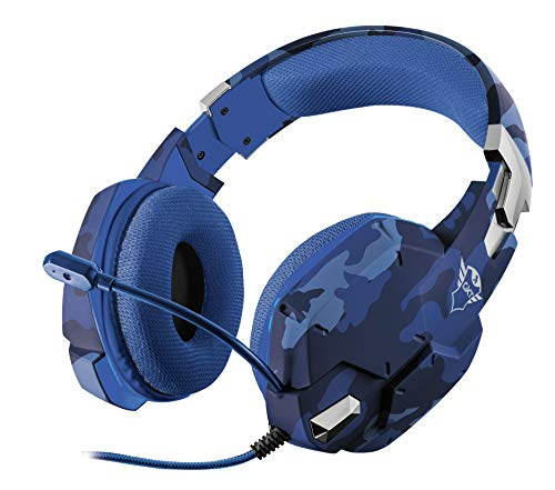 Trust Gaming GXT 322B Carus Gaming Headset (Flexibele Microfoon voor PC, PS4 en Xbox One, Stereo) Blauw
