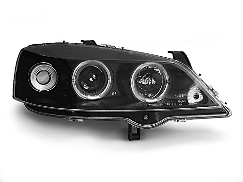 Koplamp Astra G 97-04 Angel Eyes zwart (P19)