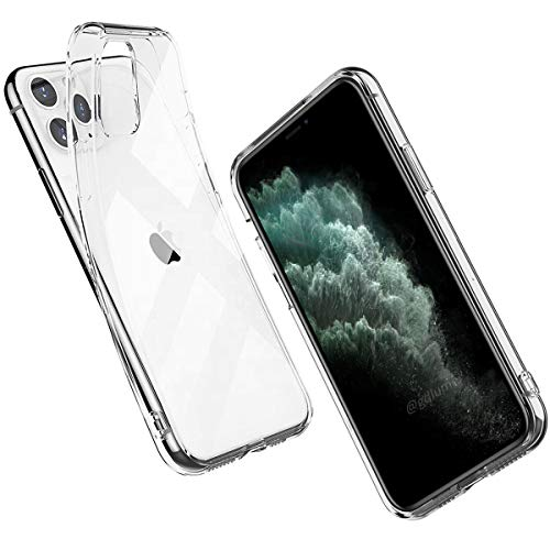 "Lemmify iPhone 11 Pro Max Case (6.5"") 2019 Ultra Thin Slim Crystal Clear Flexible Back Supports Apple Wireless Charging Non-Slip Grip Shock Proof Bumper 360º Body Protection Durable TPU 1 Day Shipping"