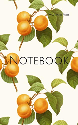 Notebook: apricot fruit vintage art wallpaper fruits orange apricots cooking jam preserving bottling