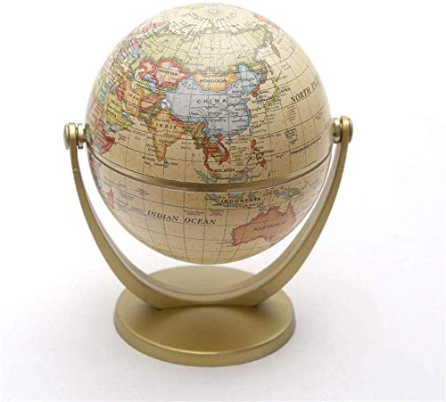 JJDSN Educational Swivel Globe Vintage Ornamenten Globus Spaarvarken Decoraties Handwerk Hoofddecoraties Aarde Retro Old Crafts voor schoolkinderen volwassenen