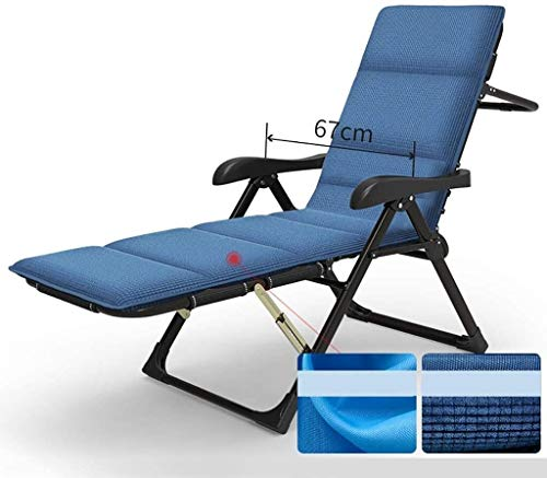 Gravity stoel Leisure terrasstoel lounge ligstoel liggende verstelbare fauteuil camping, zwembad, strand, ligstoel Camping lounge chair (Color : Black, Size : C)