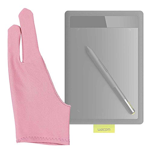DURAGADGET Guante para Tableta Gráfica Huion gt-221pro, Huion Giano WH1409, Huion Kamvas Pro 13, Wacom One by Wacom Medium - Profesional - Color Rosa