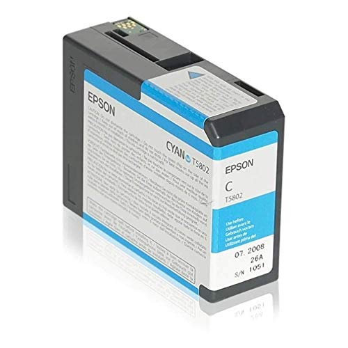 Epson C13T580200 - Cartucho de tinta, cian, Ya disponible en Amazon Dash Replenishment