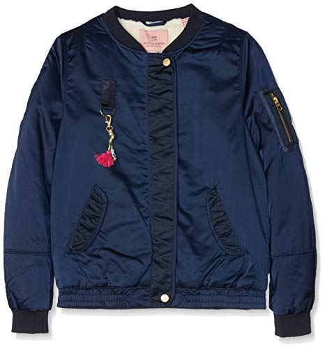 Scotch & Soda meisjes jas/jack Satin bomber jacket with teddy lining