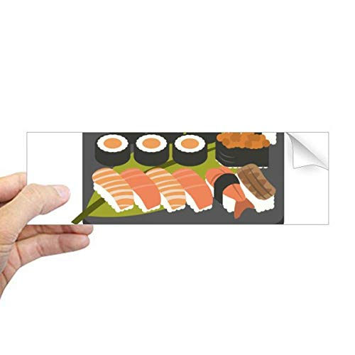 DIYthinker Traditionele Japanse Sushi Doos Rechthoek Bumper Sticker Notebook Window Decal