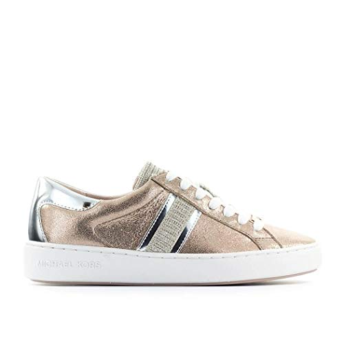 Luxury Fashion | Michael Kors Dames 43R0KTFS1M674 Roze Leer Sneakers | Lente-zomer 20