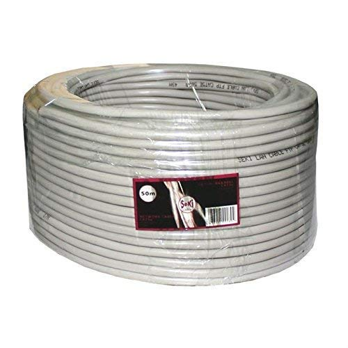 Cable de red CAT.5e 50m ; F/UTP ; cable de instalación CAT5 ethernet