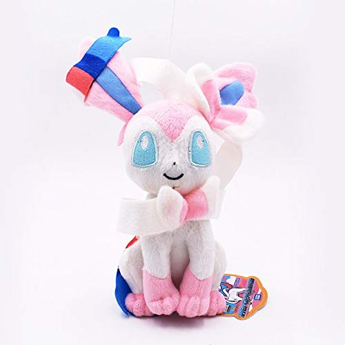 2018 17-23cm Roze Sylveon Pluche Doll Anime Spirit Nymphali Knuffels Peluche Soft Hot Toy Boy Girl Verjaardag Christmas Gift