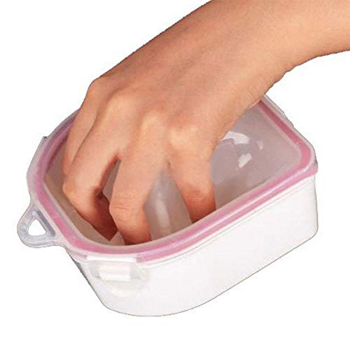 Rabusion Health For Double Layer Hand Nail Art SPA Hand Bowl Manicure Remover Soak Off Water Bowl