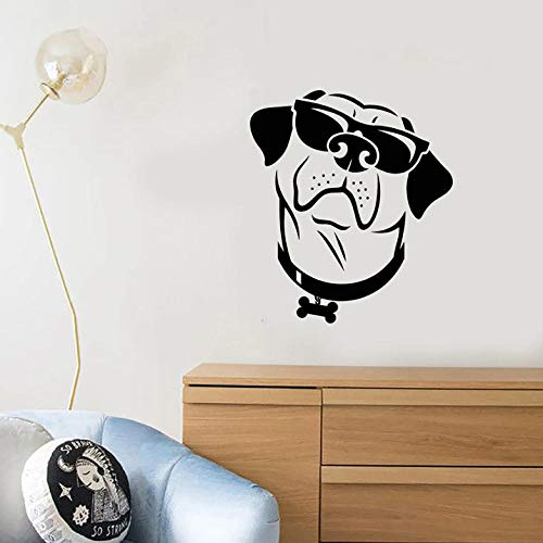 Muurstickers Decal grappige hond muur Decal Cool stijl zonnebril Huisdier winkel Animal Kids slaapkamer kinderkamer interieur Decor Vinyl Window Stickers kunst