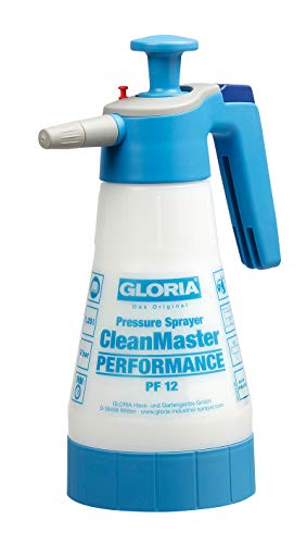 Gloria CleanMaster Performance PF12 Drukspuit, 1,25 l pH 2 tot 9, wit