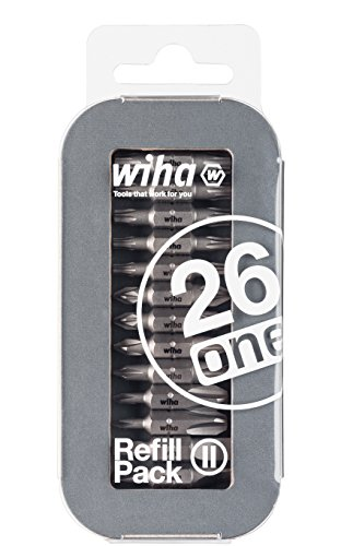 Wiha, bit-nakoopset voor Liftup 26one, 13 dubbele bits, Duitsland: Torx, Phillips/Kruis, sleuf, Pozidriv (Refill Pack 2)