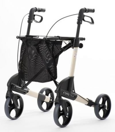 Topro Troja 4 Wiel Deluxe Rollator Walker Quartz Medium