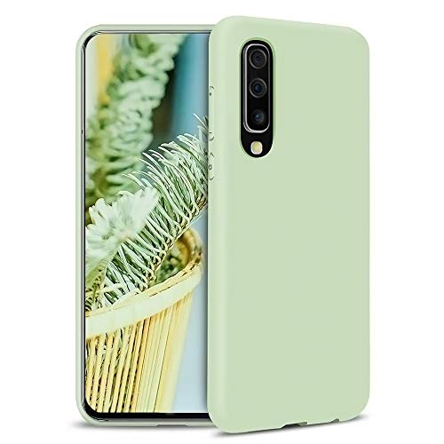 MUTOUREN Samsung Galaxy S10 Plus Case Liquid Slim Thin Silicone Gel Rubber Shockproof Case Soft Microfiber Cloth Lining Cushion Full Body Protective Compatible for Samsung Galaxy S10 Plus, Green