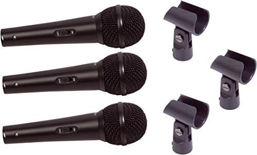 SoundLAB Vocal 3 microfoon kit met tas en houder