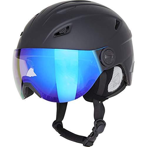TECNOPRO Heren Pulse HS-016 Visor Photochromic Ski-helm, BLACK, S
