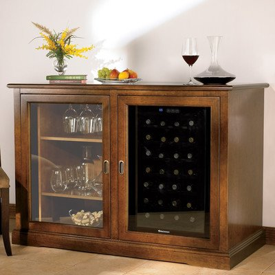 Siena Mezzo Wine Credenza with 28 Bottle Touchscreen Fridge