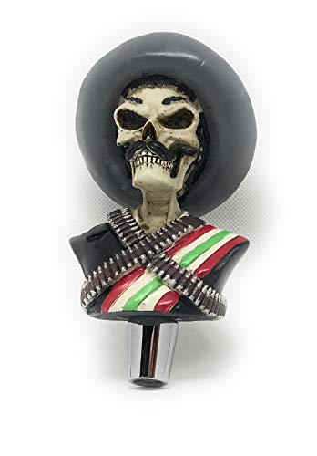 Zapata Skull beer tap handle