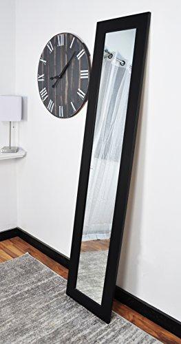 BrandtWorks BM2SKINNY Matte Black Full Length Mirror, 16 x 71