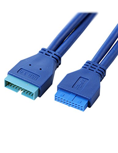 UCEC USB 3.0 Motherboard 20 Pin Male to Female Extension Cable 50cm