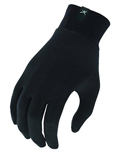 Terramar Adult Silk Spandex Glove Liner (Black, X-Small)