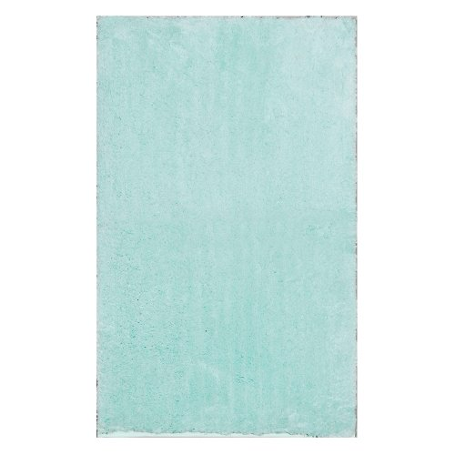 """Home Dynamix Blue Alpine Bathroom Mat : Absorbent and Ultra Plush, Non Skid Backing (17"""" x 24"""")"""