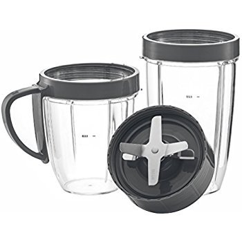 NUTRiBULLET Cups & Blade Replacement Set by NutriGear | NutriBullet Replacement Parts & Accessories | Fits NutriBullet 600w and Pro 900w Blender