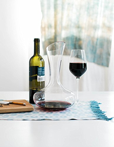 Wine Decanter by Aria - All Hand Blown Lead Free Crystal Glass with a Perfect Pour Spout