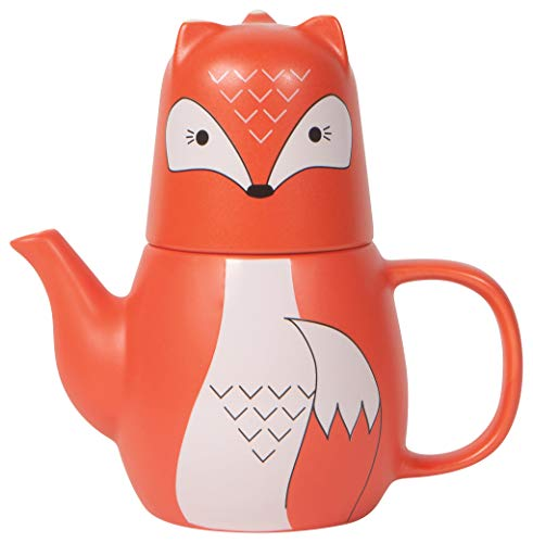 Now Designs Freddy Fox Tea for Me Teapot and Teacup Set