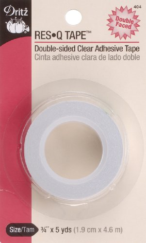 Dritz 404 3/4-Inch by 5-Yard Res Q Double-Sided Clear Adhesive Tape