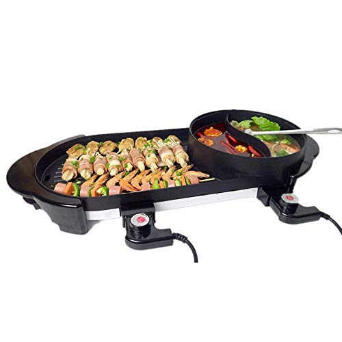 NILINMA Large-capacity Household Multi-function Double Temperature-control Electric Barbecue Grill Frying Pan Induction Cooker Baking Pan