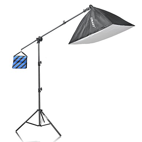 Emart 525W Photography Light Photo Video Studio Softboxes Continuous Lighting Kit Include 24 x 24 Softbox with Boom Stand and Sand Bag