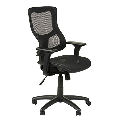Alera Elusion II Series Suspension Mesh Mid-Back Synchro with Seat Slide Chair, Black