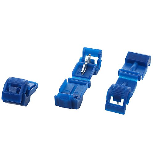 AIRIC T-tap Wire Connectors Quick Splices 100PCS 18-14 Gauge Blue Wire Terminals T Tap Self-Stripping Radio Wire Splice Terminals
