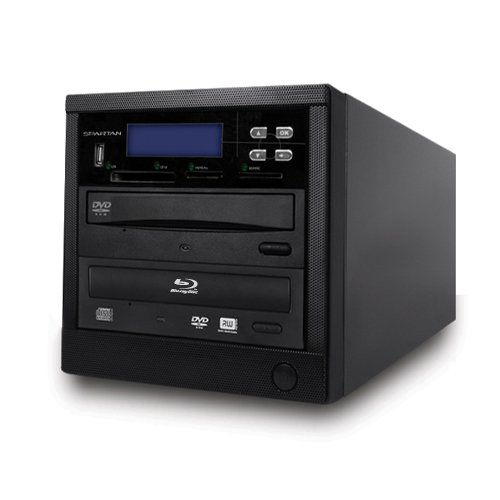 Spartan 12X All-in-One 1 Target SATA Blu Ray Tower Duplicator with Pioneer Drive (Duplication Tower from SD;CF;USB;BD/DVD to BD/DVD Disc)