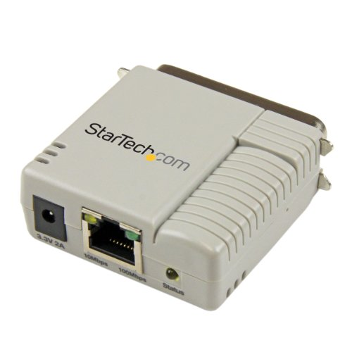 StarTech.com 1 Port 10/100 Mbps Ethernet Parallel Network Print Server - Parallel Print Server - Centronics Parallel Port Print Server