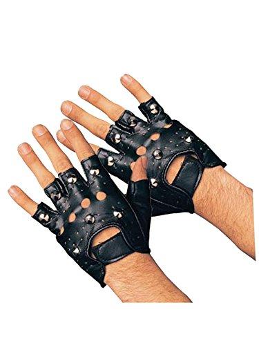 Rubie's Studded Gloves, Black, Adult