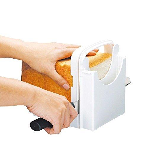 Bread Slicer Adjustable Bread/Roast/loaf Slicer Cutter, Bread Cutting Toast Bagel Loaf Slicer Cutter Mold Sandwich Maker Toast Slicing Machine Folding and Adjustable Handed Bread Machine Bread Maker
