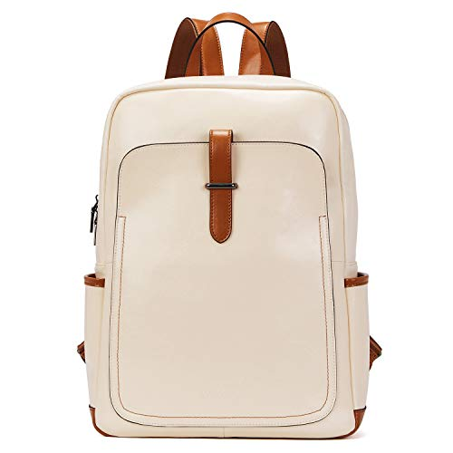 BOSTANTEN Leather college backpack for girls women