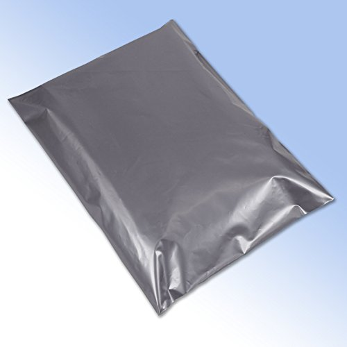 100 Grey Plastic Mailing Mail Post Postage Bags 17 x 24