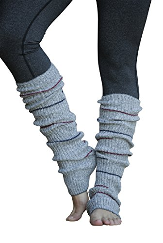 Lucky Love Striped Multicolor Reversible Knit Adult Leg Warmers for Women