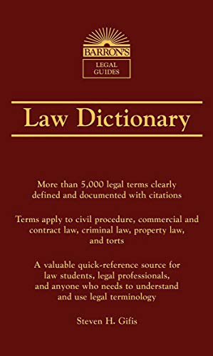 Law Dictionaries & Terminology