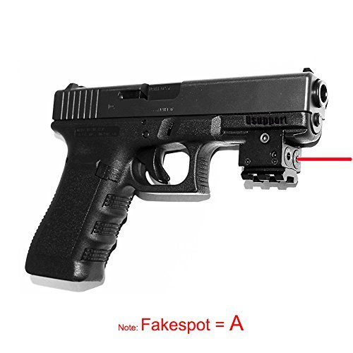Tactical Mini Red Dot Laser Sight Compact with 20mm Rail Mout, Fit for Pistol Airgun Rifle Handgun Springfield XD etc