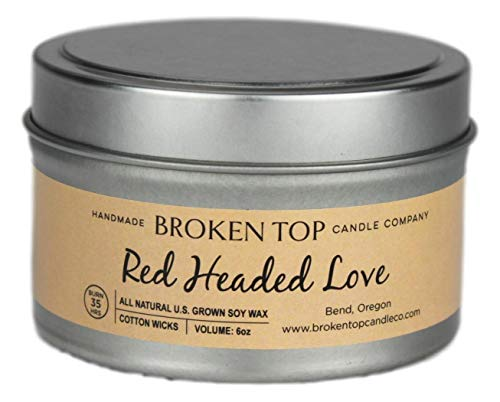 Red Headed Love 100% All Natural US Grown Soy Wax Candle